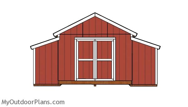10x18 Raised Center Aisle Barn Shed Door Plans