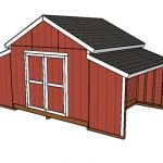 12×20 Raised Center Aisle Barn Shed Plans