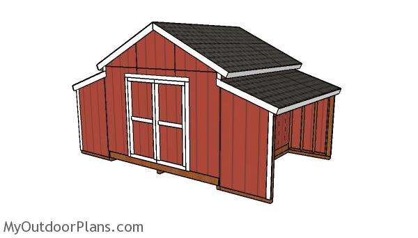 12x20 Raised Center Aisle Barn Shed Plans