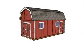 12×24 Gambrel Shed Plans