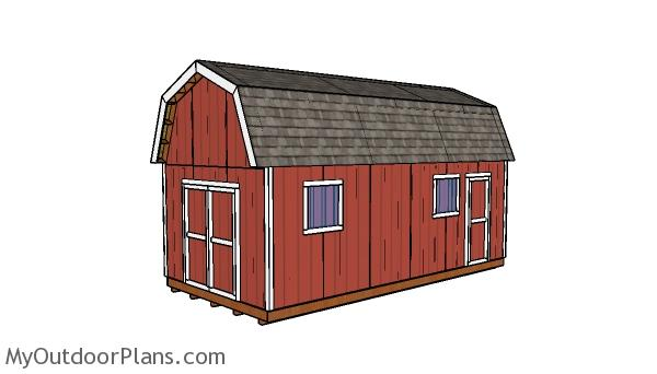 12x24 Gambrel Shed Plans