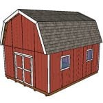 16×20 Gambrel Shed Plans