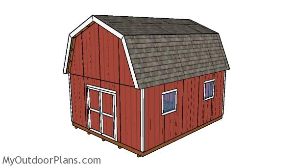 16x20 Gambrel Shed Plans