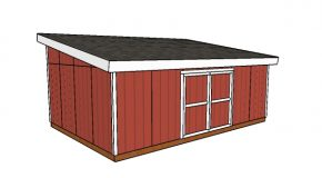 16×24 Lean to Shed Plans