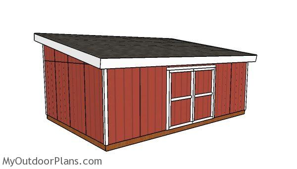 16x24 Lean to Shed Plans | MyOutdoorPlans | Free Woodworking Plans
