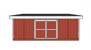 16×24 Lean to Shed Doors Plans