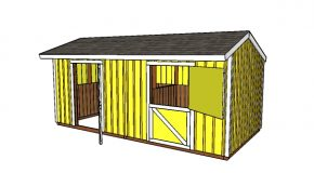 10×20 2 Stall Horse Barn Plans