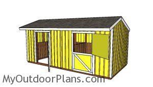 2 Stall Horse Barn Plans