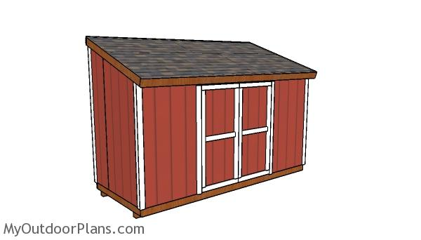 6x14 Lean to Shed Plans