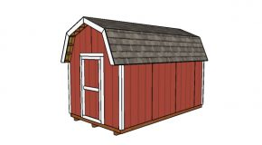 8×14 Gambrel Shed Plans