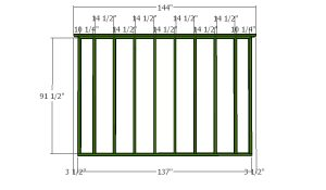Back wall frame - 12x24 Gambrel Shed