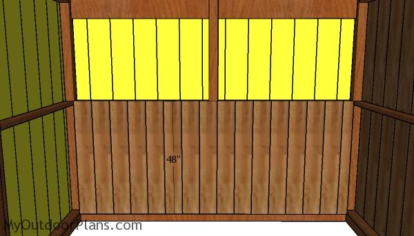 Back wall kickboards