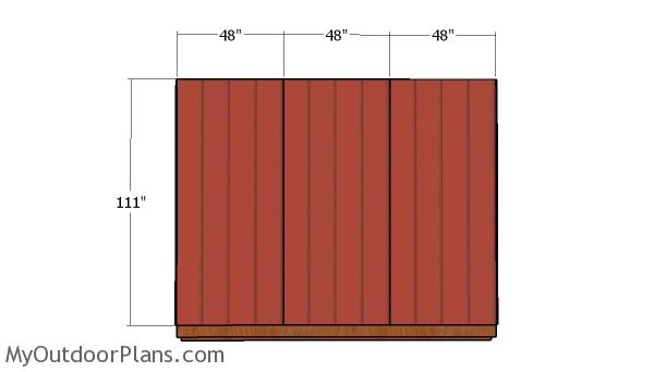 Back wall sheets