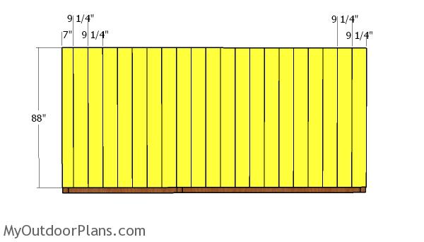 Back wall slats
