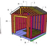 10×18 Raised Center Aisle Shed Roof Plans