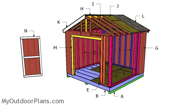 10x18 Raised Center Aisle Shed Roof Plans