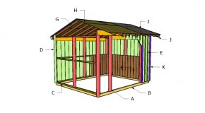 10×12 Run in Shed Roof Plans