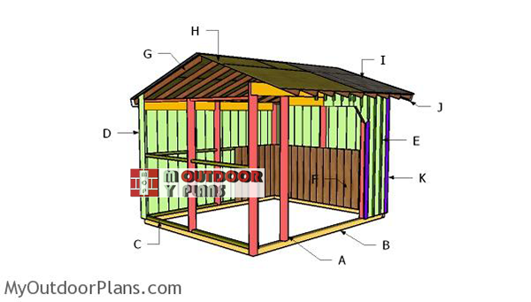 Building-a-10x12-run-in-shed