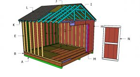 12×20 Raised Center Aisle Barn Shed Roof Plans