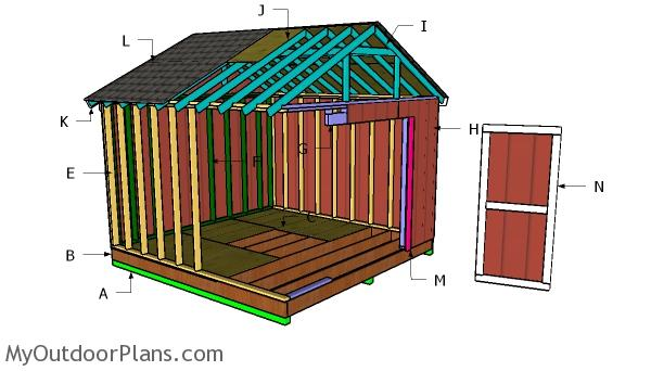 Building a 12x20 raised center aisle shed