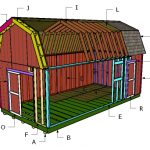 12×24 Gambrel Shed Roof Plans