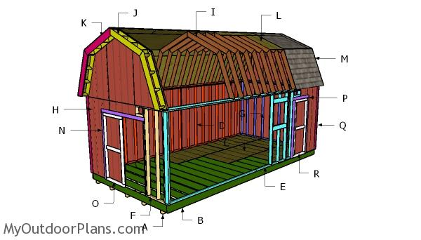 12x24 Gambrel Shed Roof Plans