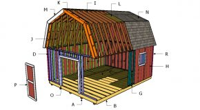 16×20 Gambrel Shed Roof Plans