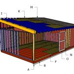 16×24 Lean to Shed Roof Plans