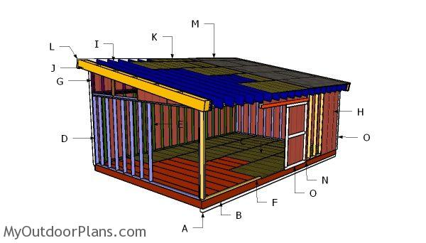 16x24 lean to shed roof plans myoutdoorplans free for 16x24 shed plans free