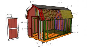 8×14 Gambrel Shed Roof Plans