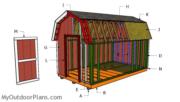 8x14 Gambrel Shed Roof Plans