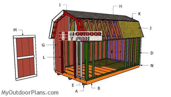 Building-a-8x14-gambrel-shed