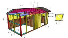 10×20 2 Stall Horse Barn Roof Plans