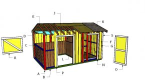 10×16 Horse Barn with Tack Room Roof Plans