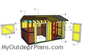 Building a horse barn with tack room