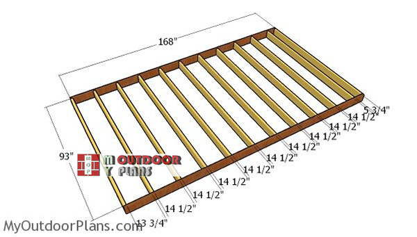 Building-the-floor-frame-8x14-shed