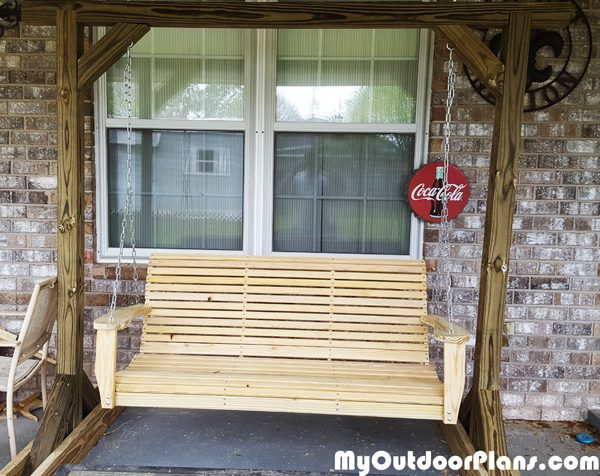 Diy Porch Swing With Stand Myoutdoorplans Free