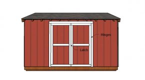6×14 Shed Doors Plans