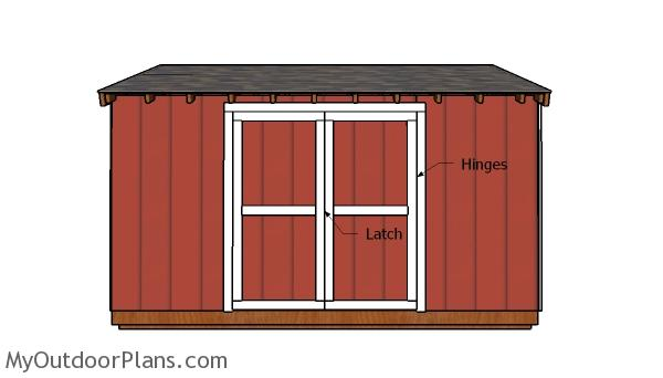 6x14 Shed Doors Plans