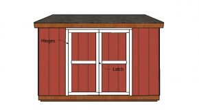 6×12 Lean to Shed Doors Plans