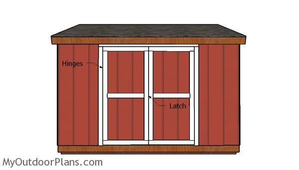 6x12 Lean to Shed Doors Plans