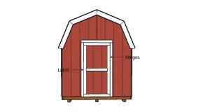 8×14 Gambrel Shed Door Plans