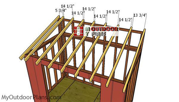 Fitting-the-rafters-lean-to-roof