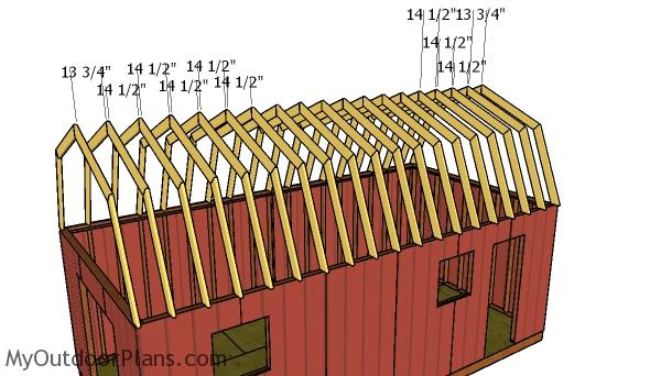 12x24 Gambrel Shed Roof Plans Myoutdoorplans Free