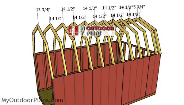 Fitting-the-trusses---8x14-shed