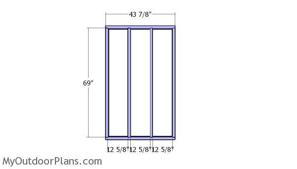 Frames for the side sheds
