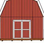 16×20 Gambrel Shed Door Plans
