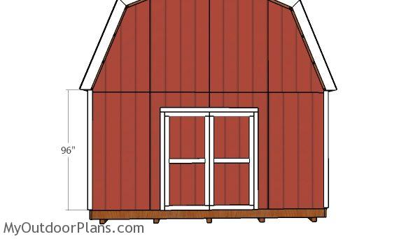 16x20 Gambrel Shed Door Plans Myoutdoorplans Free Woodworking