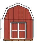 12×24 Gambrel Shed Doors Plans