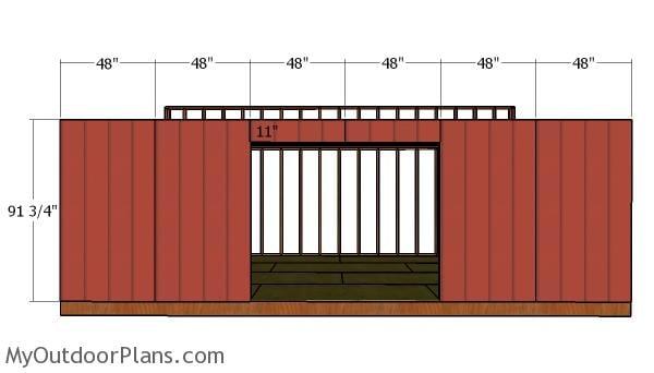 Front wall siding sheets